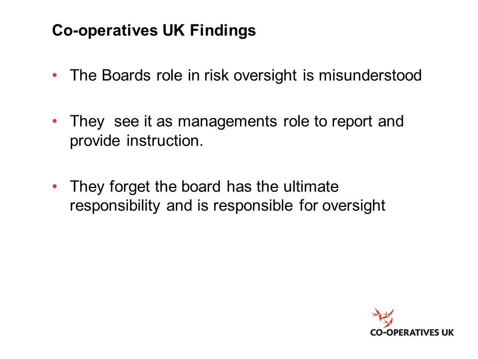 Co-operatives UK Findings