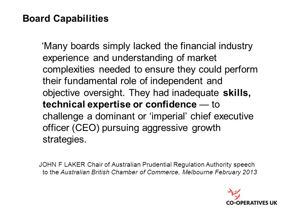 Board Capabilities
