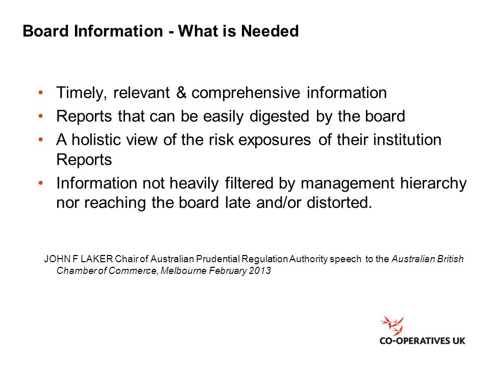 Board Information - What is Needed