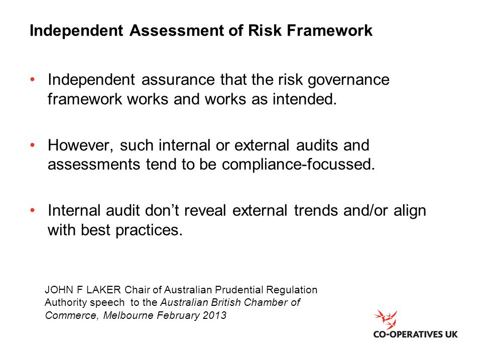 Independent Assessment of Risk Framework