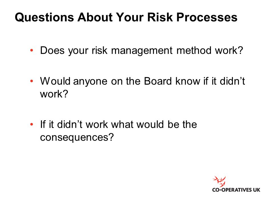 Questions About Your Risk Processes
