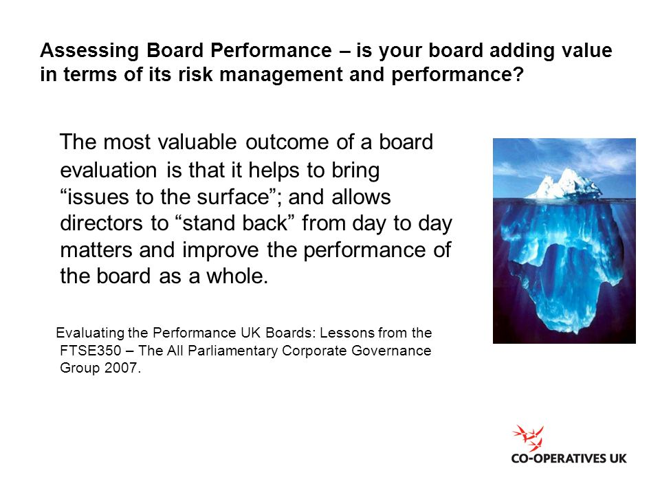 Assessing Board Performance – is your board adding value in terms of its risk management and performance
