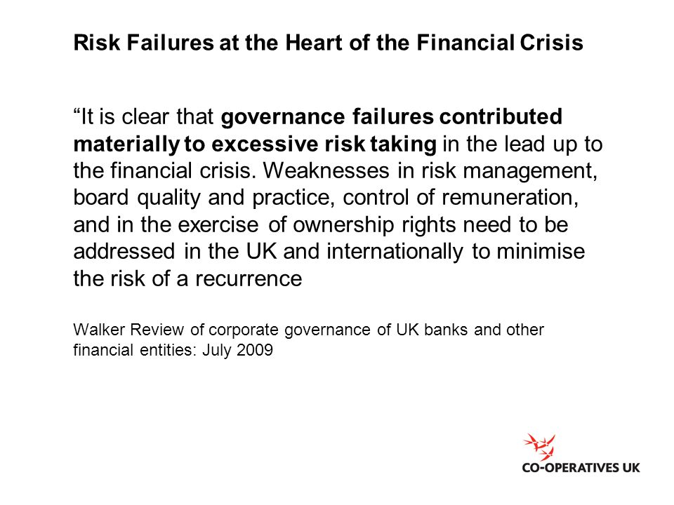 Risk Failures at the Heart of the Financial Crisis