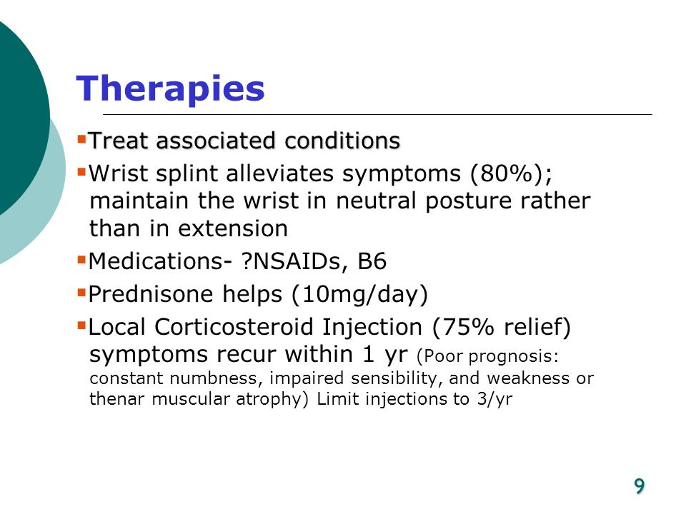 Therapies Treat associated conditions