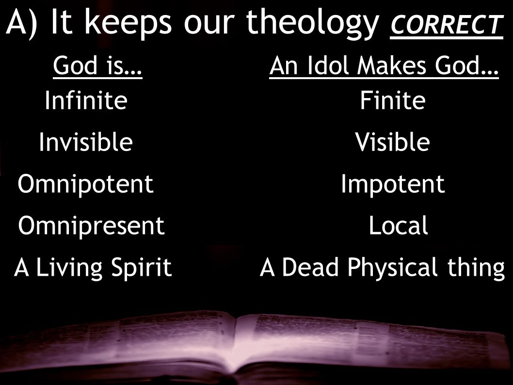 A) It keeps our theology CORRECT