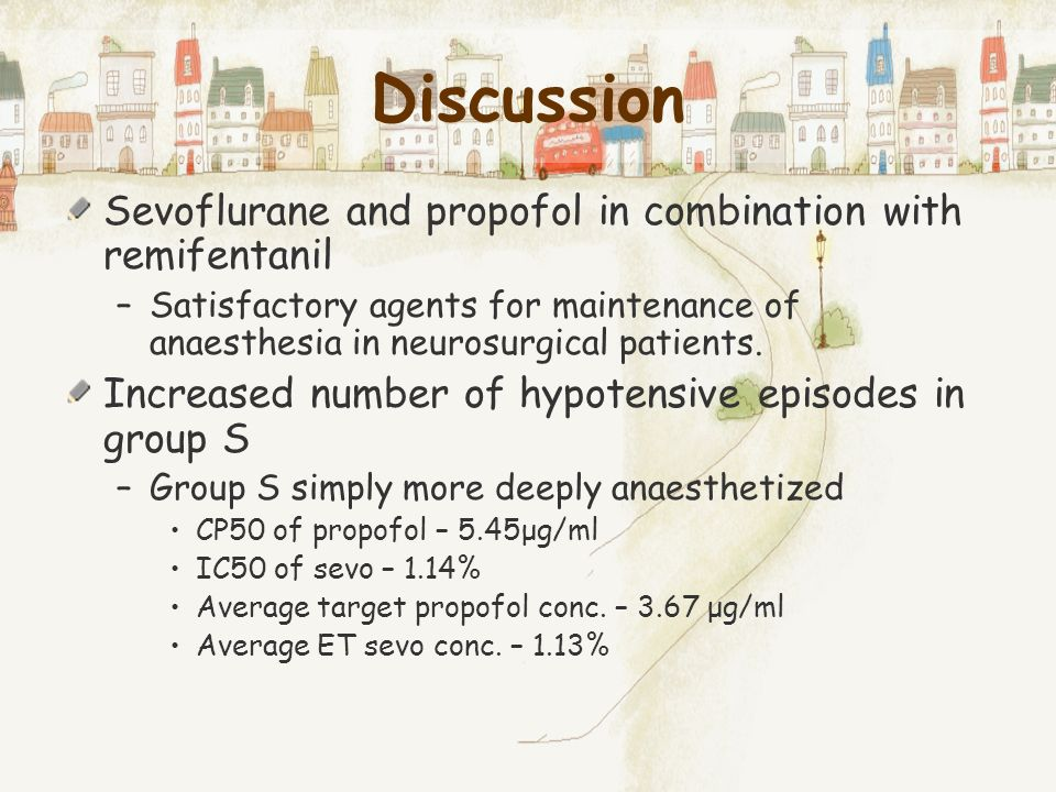 Discussion Sevoflurane and propofol in combination with remifentanil