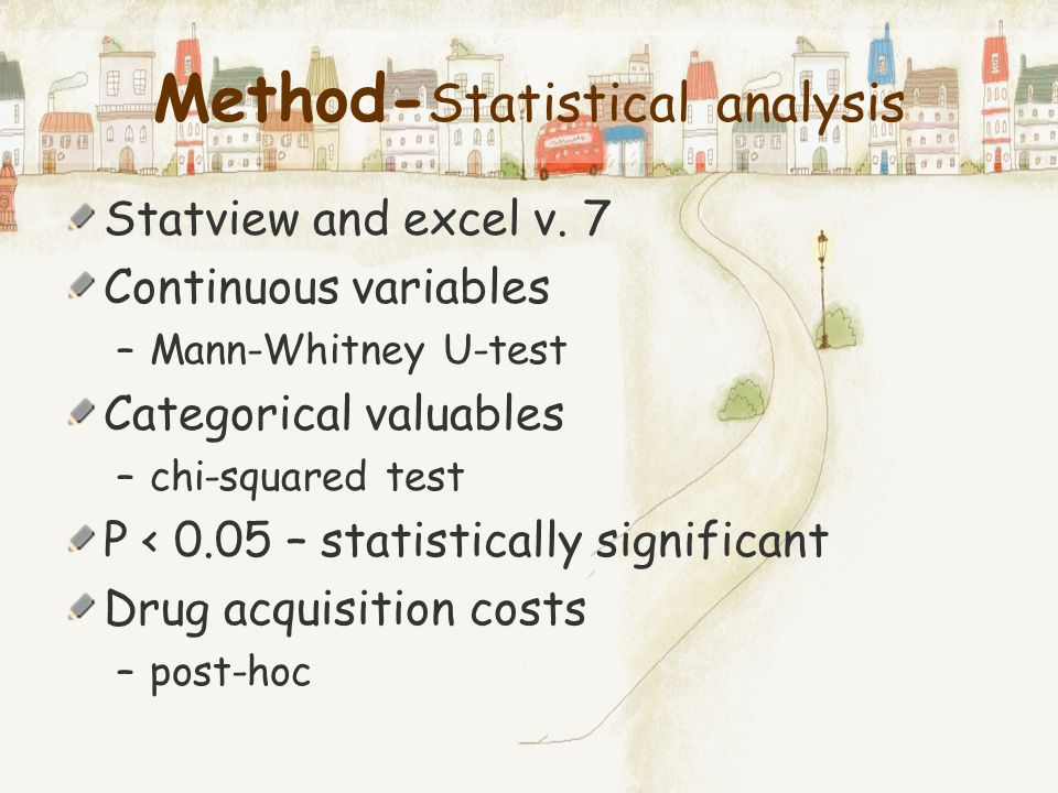 Method-Statistical analysis