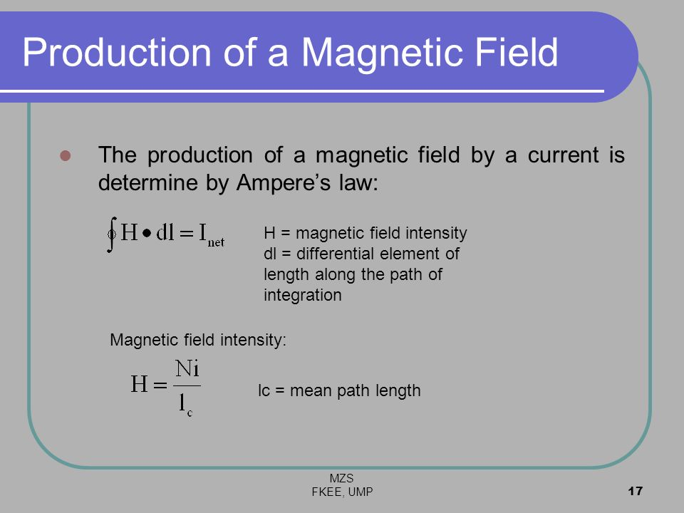 Production of a Magnetic Field