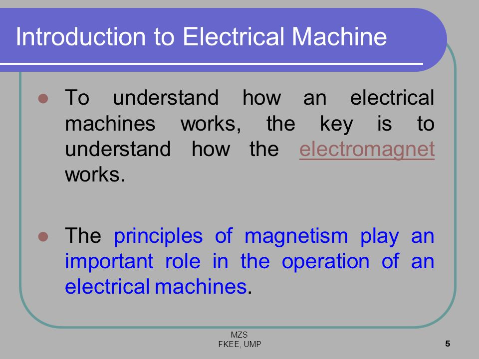 Introduction to Electrical Machine