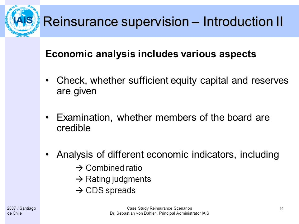Reinsurance supervision – Introduction II