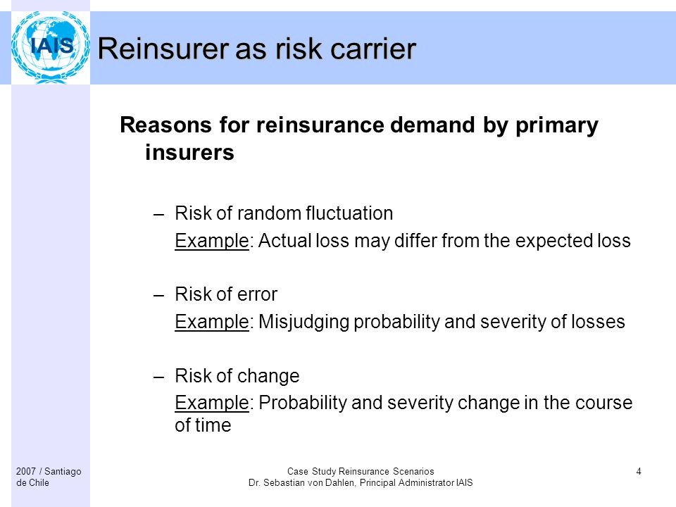 Reinsurer as risk carrier