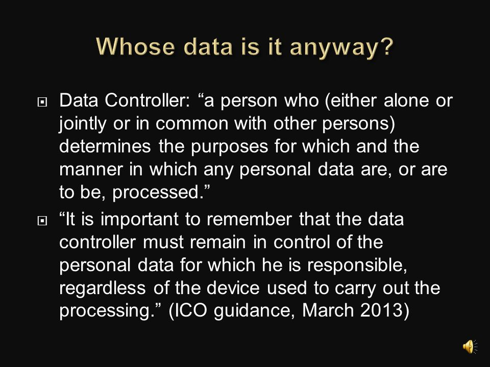 Whose data is it anyway
