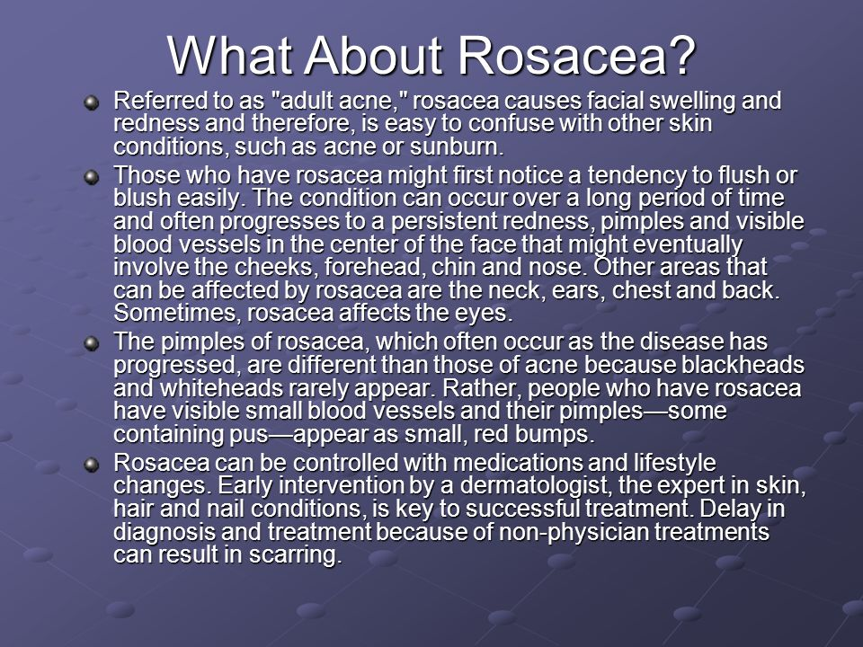 What About Rosacea