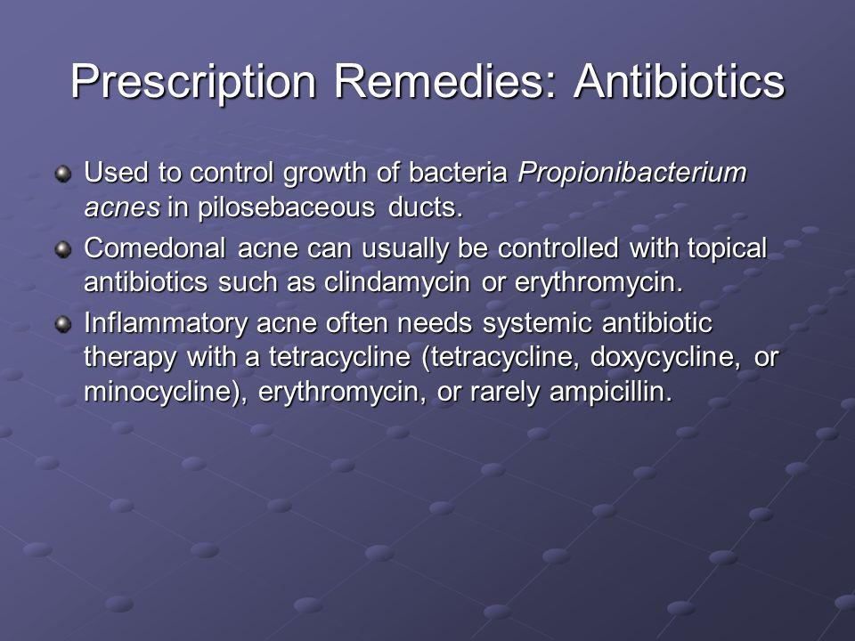 Prescription Remedies: Antibiotics