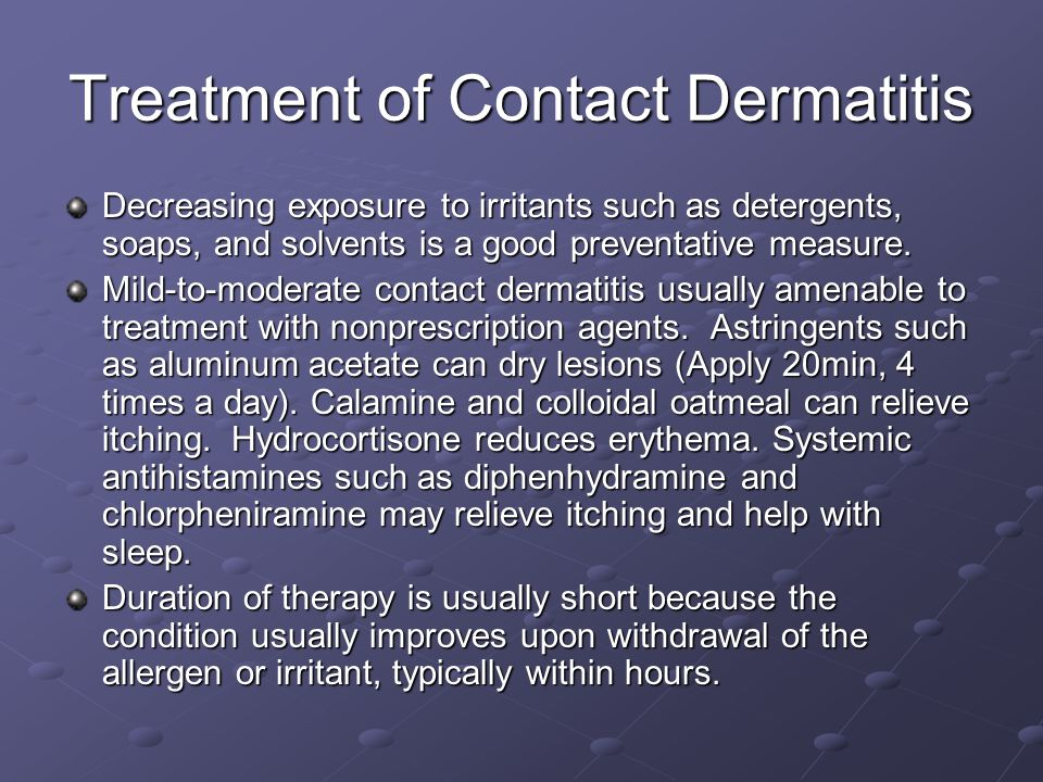 Treatment of Contact Dermatitis