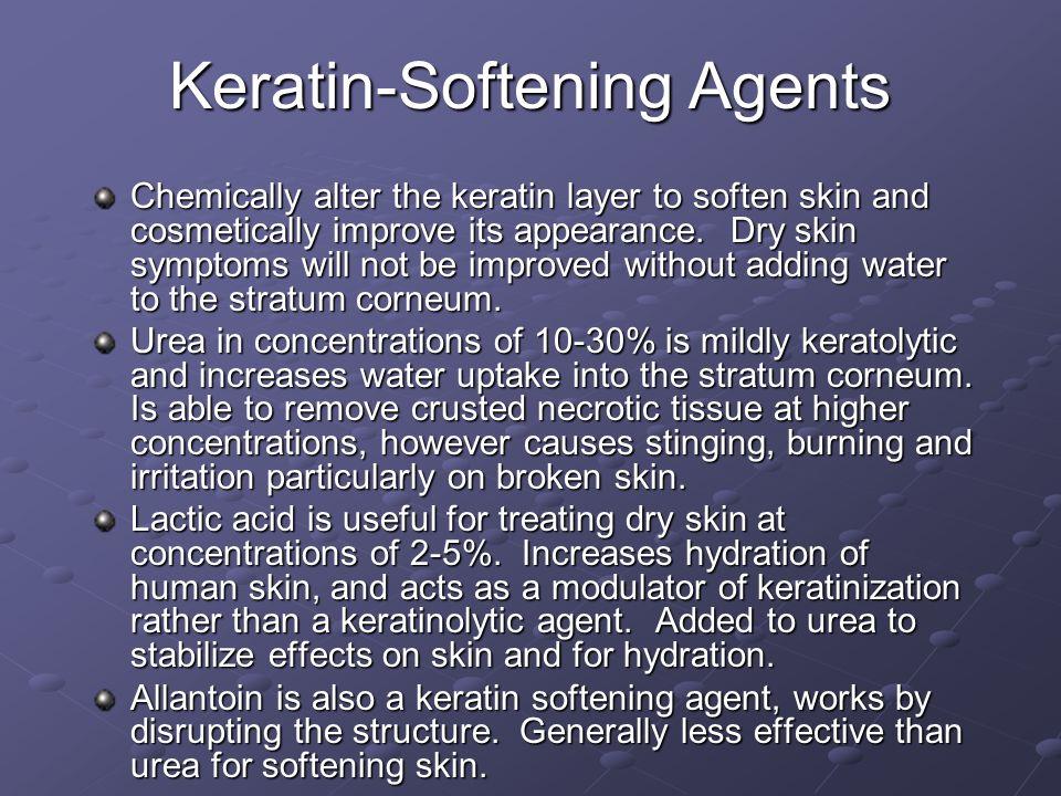 Keratin-Softening Agents