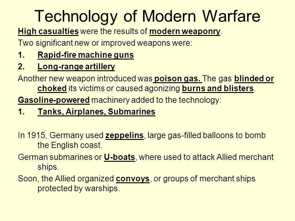 Technology of Modern Warfare