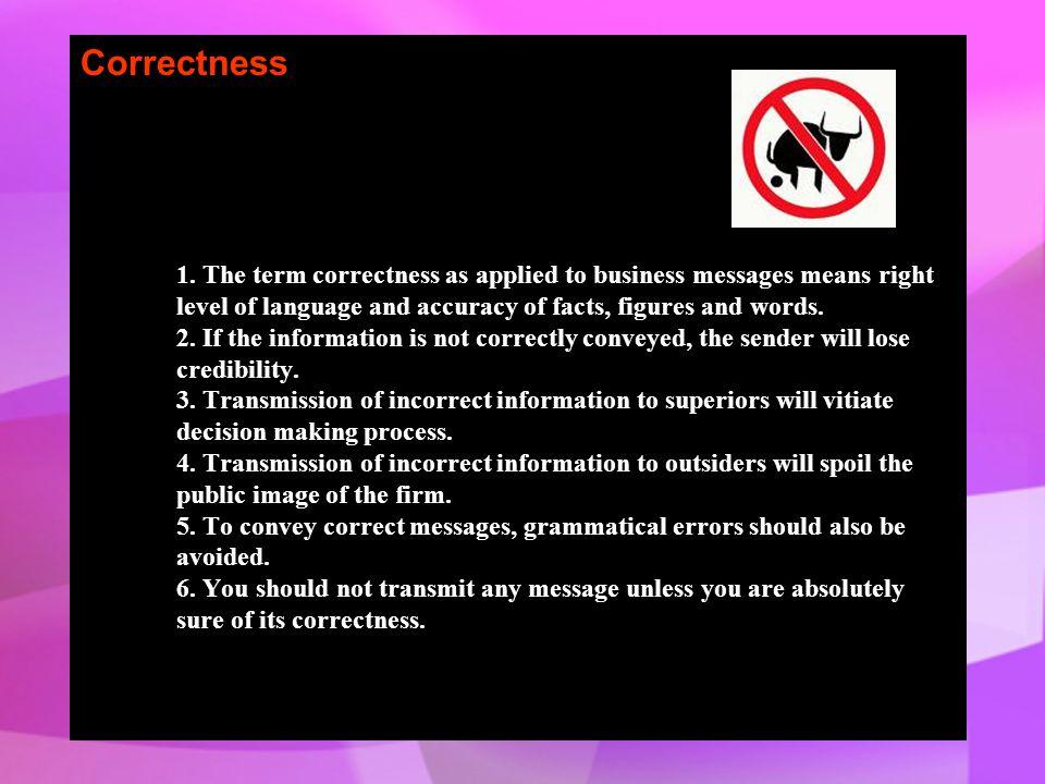 Correctness 1.
