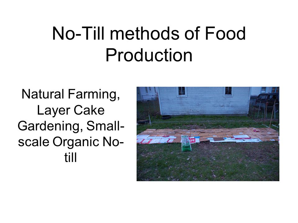 No-Till methods of Food Production