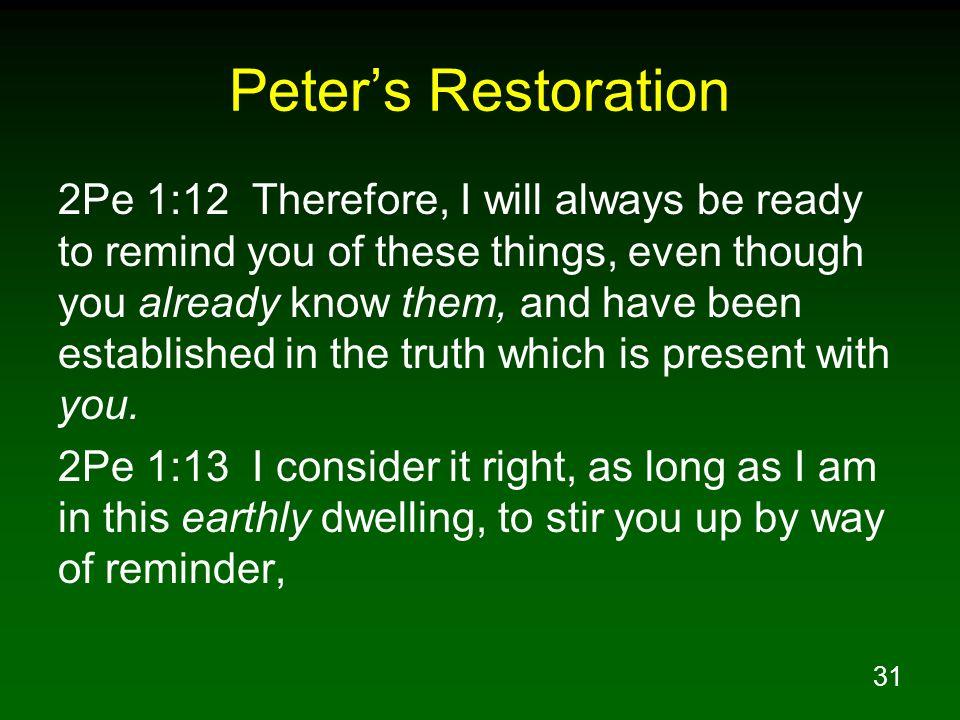 Peter's Restoration