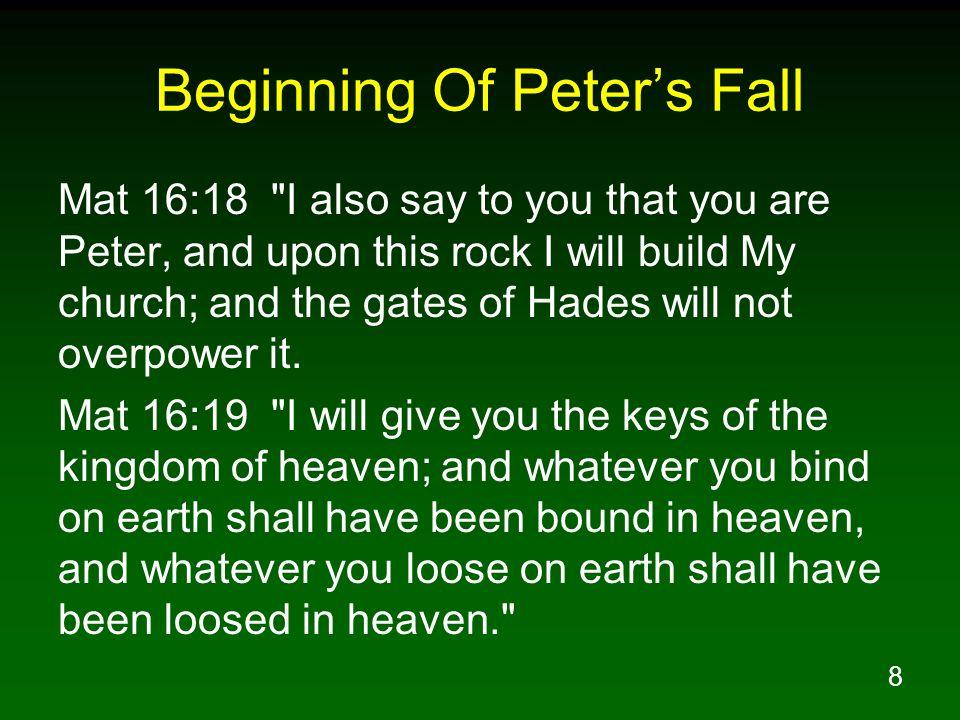 Beginning Of Peter's Fall