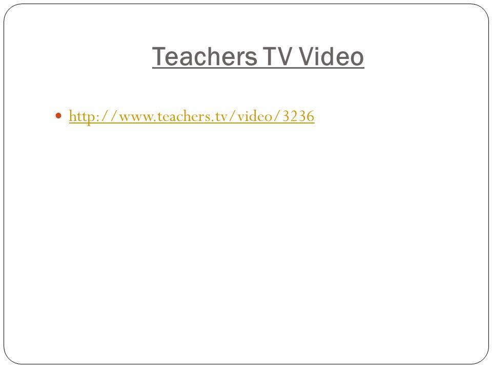 Teachers TV Video http://www.teachers.tv/video/3236