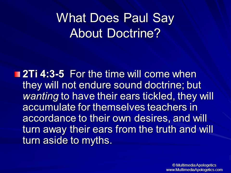 What Does Paul Say About Doctrine