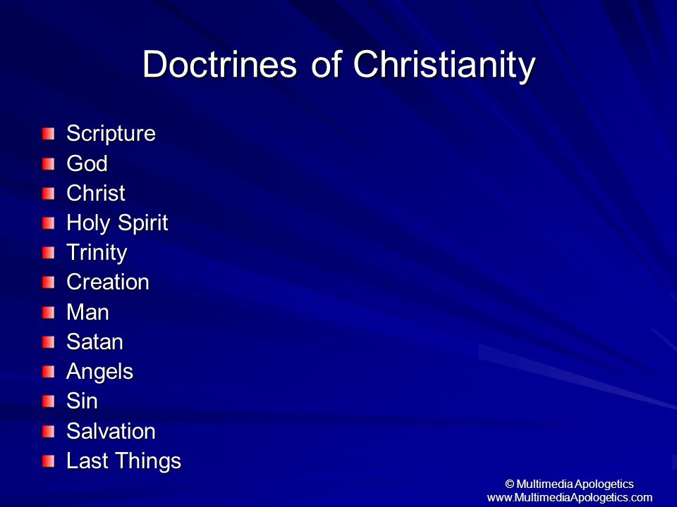 Doctrines of Christianity