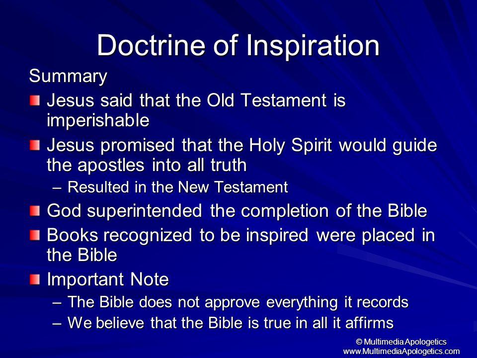 Doctrine of Inspiration