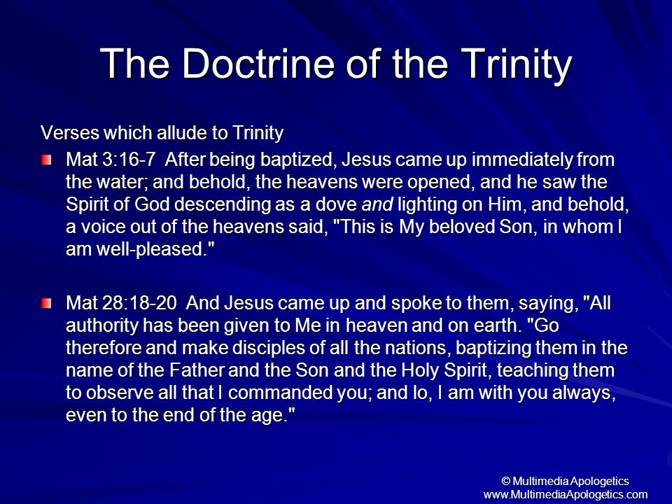 The Doctrine of the Trinity