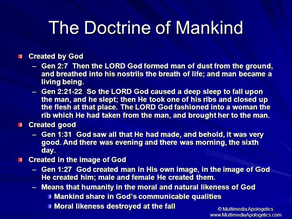 The Doctrine of Mankind