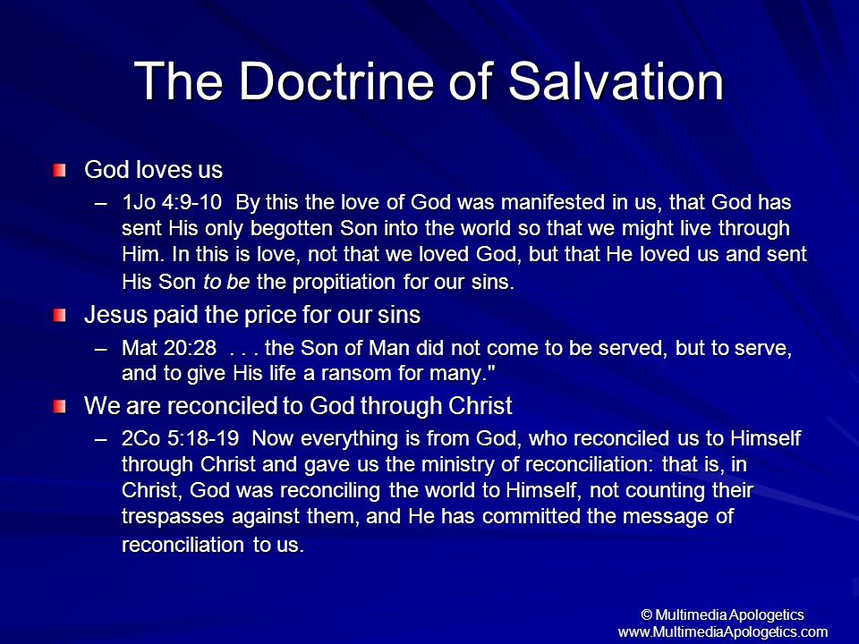 The Doctrine of Salvation