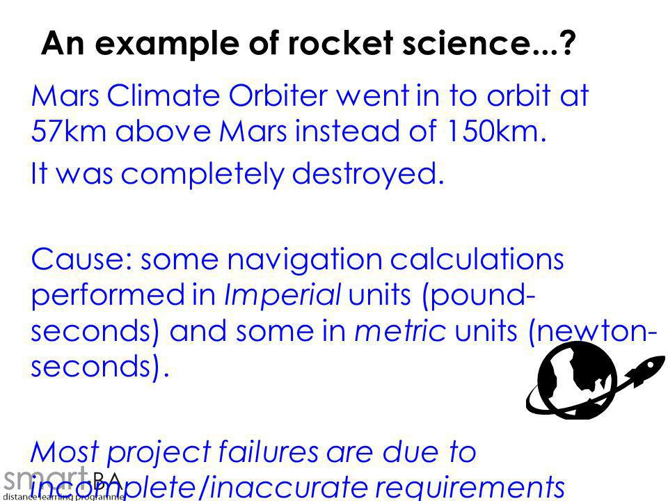 An example of rocket science...