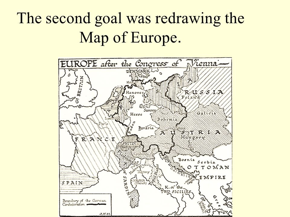 The second goal was redrawing the Map of Europe.