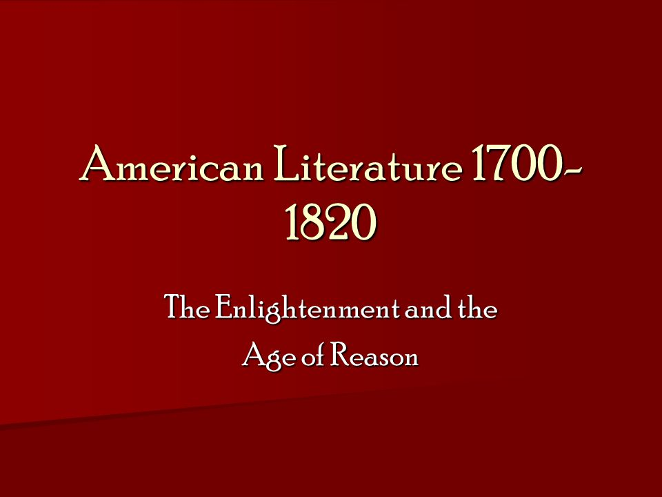 american litterature 1700 American literature: american literature, the body of written works produced in the english language in the united states.