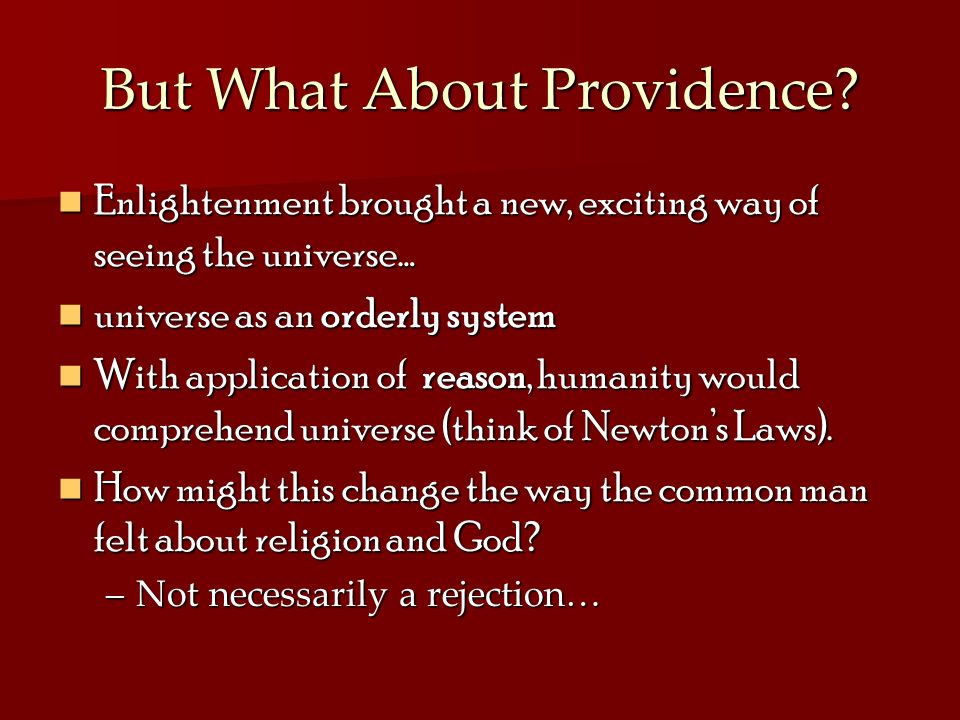But What About Providence