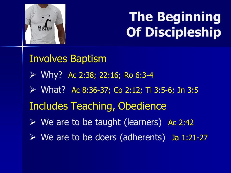 The Beginning Of Discipleship