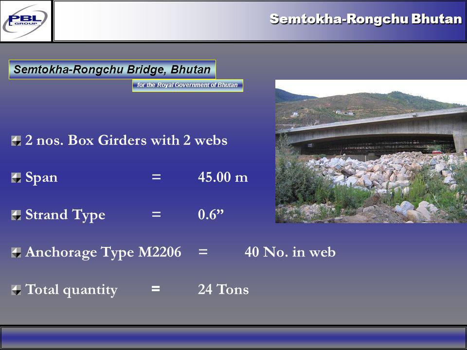 Semtokha-Rongchu Bridge, Bhutan for the Royal Government of Bhutan