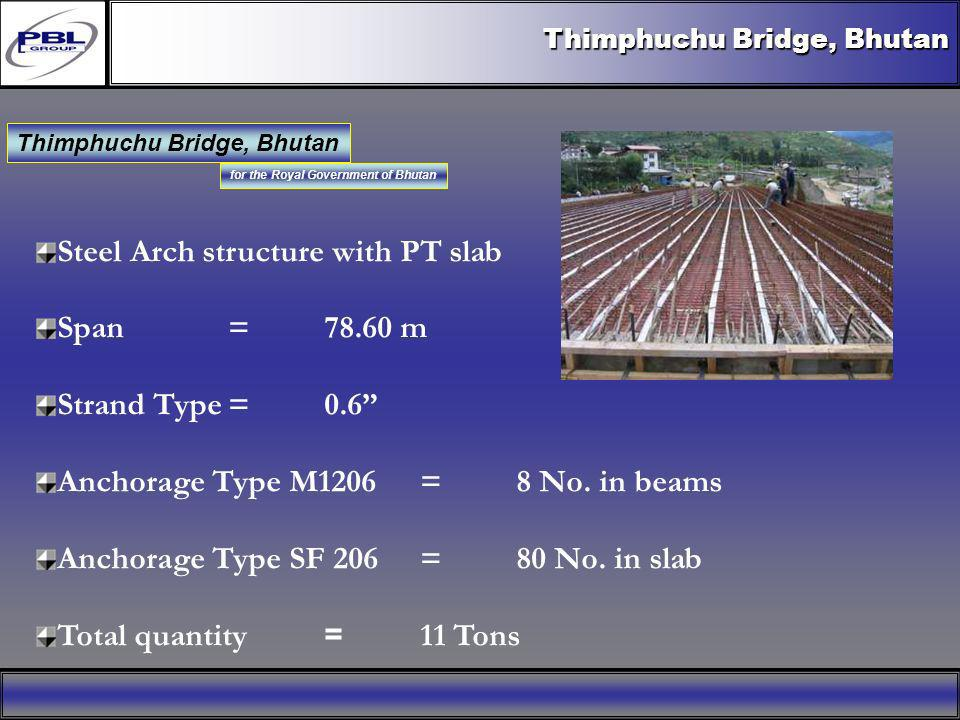 Thimphuchu Bridge, Bhutan for the Royal Government of Bhutan