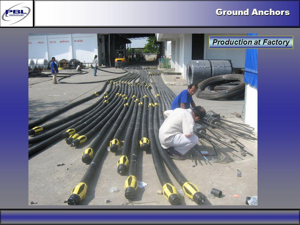 Ground Anchors Production at Factory