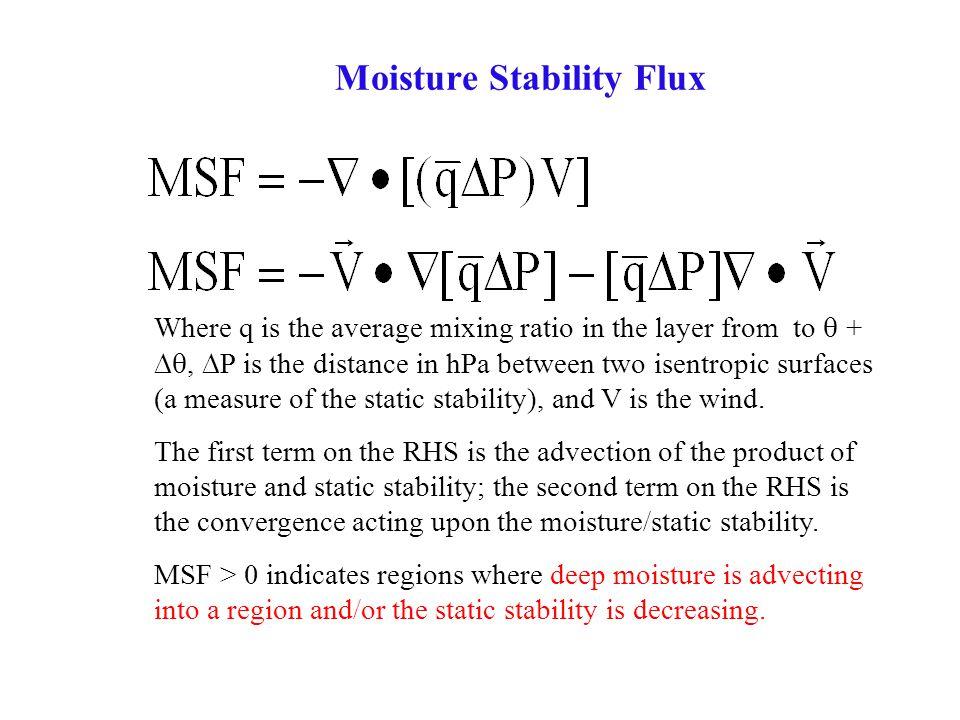 Moisture Stability Flux