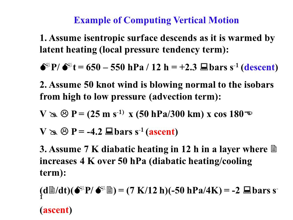 Example of Computing Vertical Motion