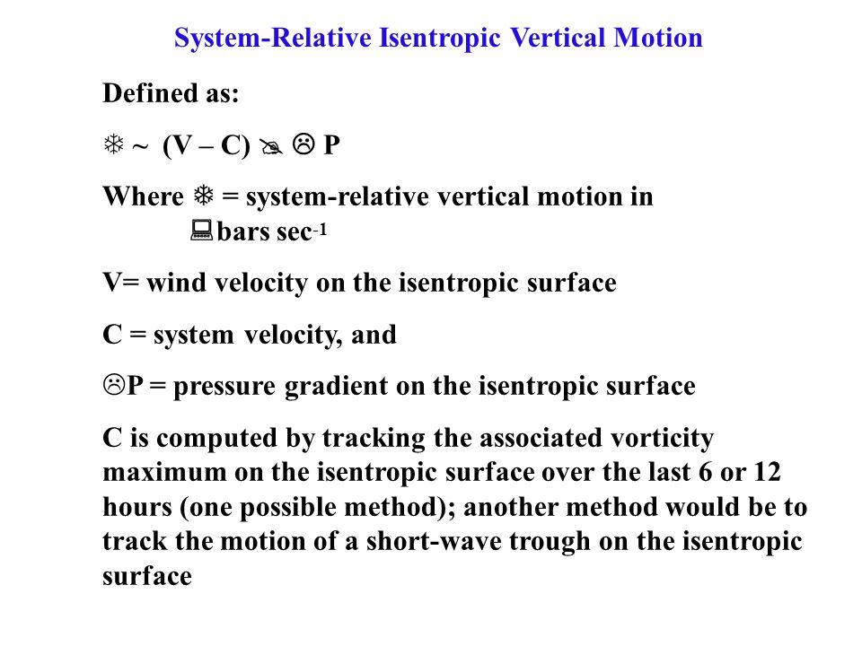 System-Relative Isentropic Vertical Motion