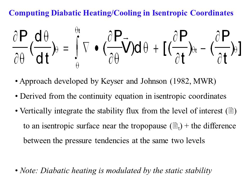 Computing Diabatic Heating/Cooling in Isentropic Coordinates