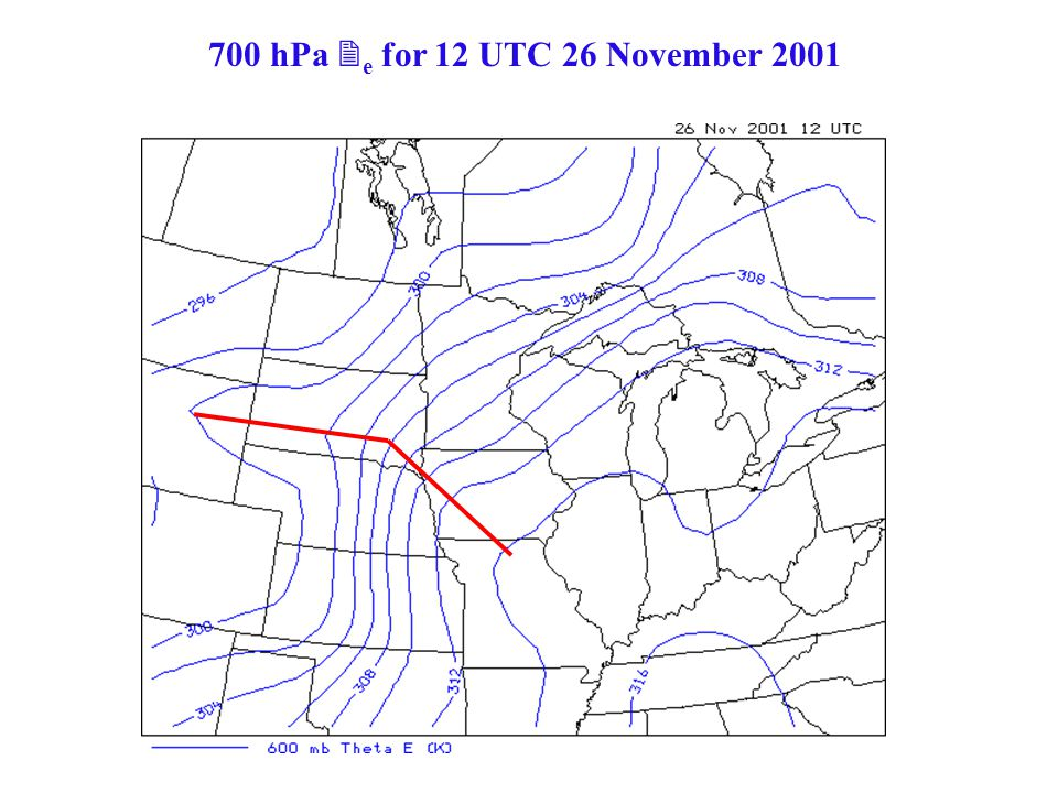 700 hPa e for 12 UTC 26 November 2001