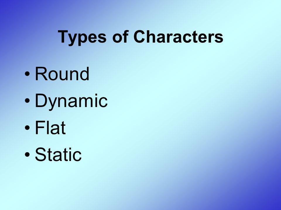 Types of Characters Round Dynamic Flat Static