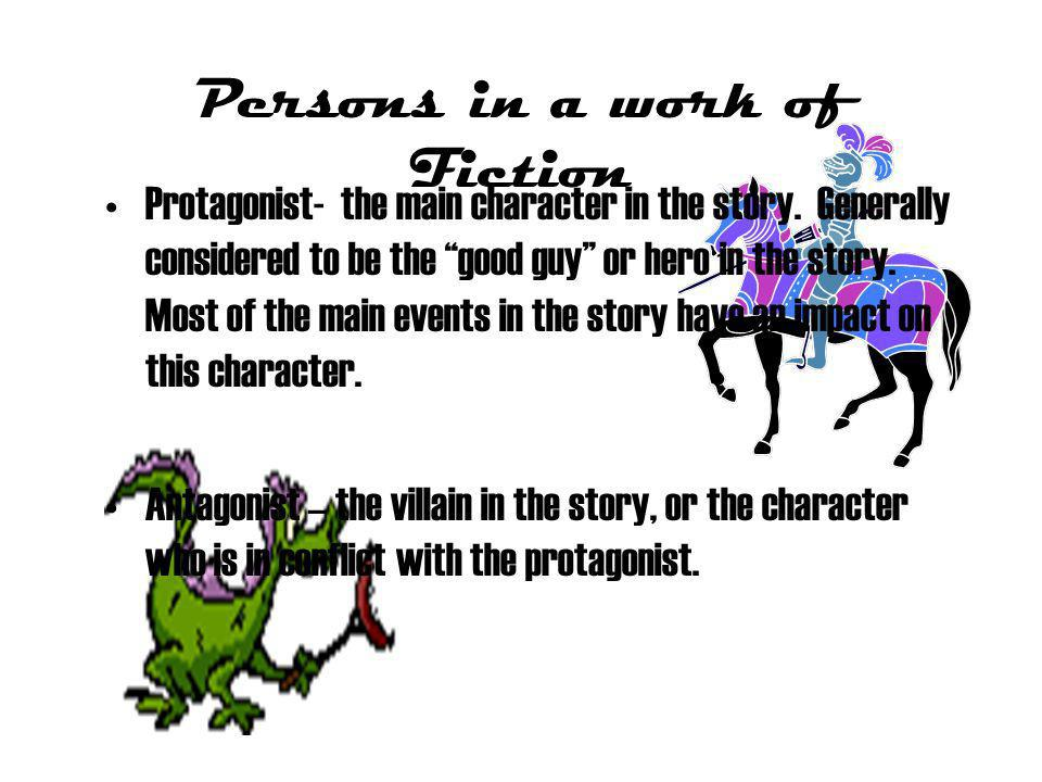 Persons in a work of Fiction