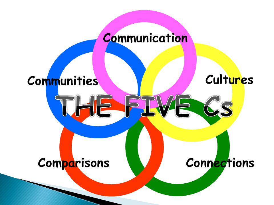 Communication Communities Cultures THE FIVE Cs Comparisons Connections