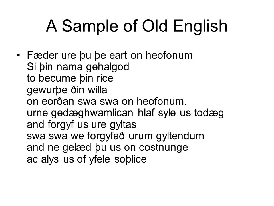 A Sample of Old English