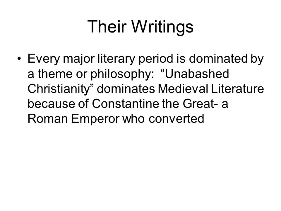 Their Writings